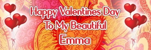 2 Personalised Valentine/'s To Beloved Ones Party Decoration Banners Posters