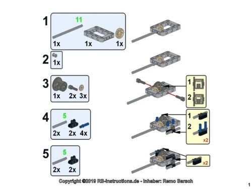 RBi Bauanleitung instruction 42096 RC mit Licht Porsche 911 RSR MOC aus LEGO