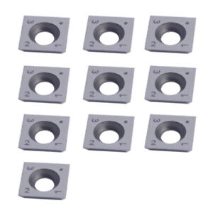 "10pcs 6/"" Radius Square Carbide Inserts 4-Edge 15 x 15 x 2.5mm For Wood Turning"