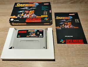 Super Nintendo SNES // starwing + embalaje original + instrucciones // dt. PAL cib
