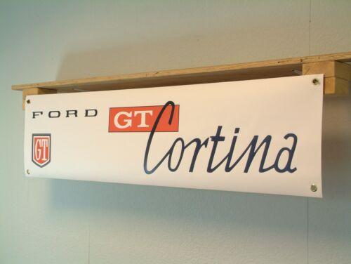 FORD Cortina MK1 GT BANNER Car Workshop Garage Vintage Classic Show Display