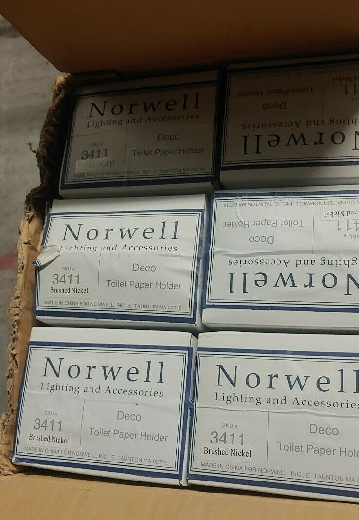 (12) Norwell Toilet Paper Holder, Brushed Nickel,