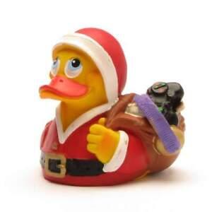 Badeente-Weihnachtsmann-Quietscheentchen-Gummiente-Quietscheente-Ente