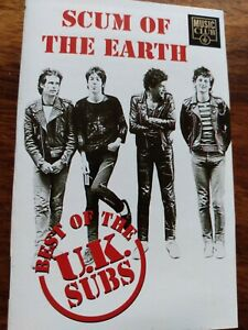 UK-Subs-Scum-Of-The-Earth-Best-Of-The-UK-Subs-Cassette-Music-Club-1993-EX-Punk