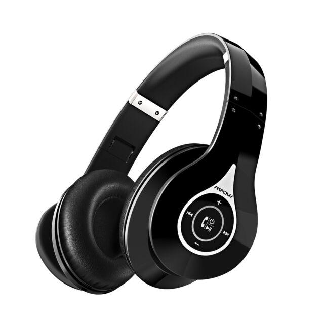 3f018f51600666 Mpow 059 Bluetooth Headphones Over Ear - Wireless Headset Hifi Stereo -  Black