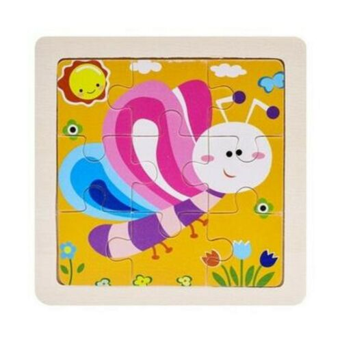 Wood Puzzle Wooden 3D Puzzle Jigsaw for Children Baby Cartoon Puzzles Toy Hot