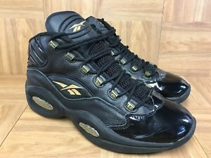 Image is loading RARE-Reebok-Question-Mid-10th-Anniversary-Patent-Leather- 16ad73df9