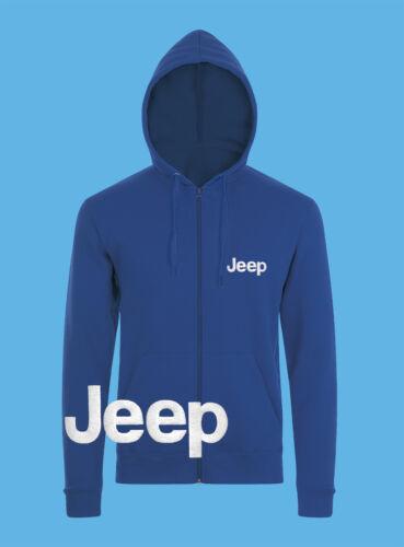 JEEP Zip Hoodie EMBROIDERED Auto Car Logo Sweatshirt Jacket Hoody Mens Clothing