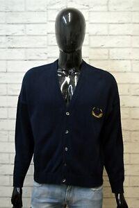 TRUSSARDI-Uomo-Taglia-XL-Maglione-Cotone-Pullover-Cardigan-Sweater-Felpa-Blu-Man