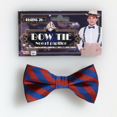 Roaring 20's Bow Tie Striped Fancy Dress Up Halloween Costume Accessory 2 COLORS