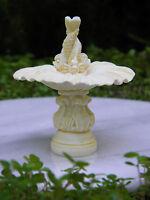 Miniature Dollhouse Fairy Garden Furniture Ivory Resin Fish Fountain