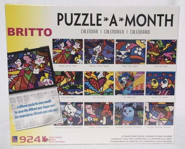 Sure-Lox Puzzle ROMERO BRITTO PUZZLE A MONTH MONTH MONTH CALENDAR  924 PIECES  SEALED 04f226