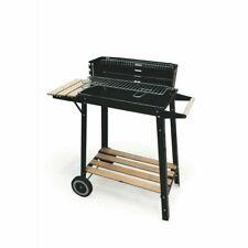 Barbecue Bbq avec plateau en bois rectangulaire avec des roues 86.5X27X81.5