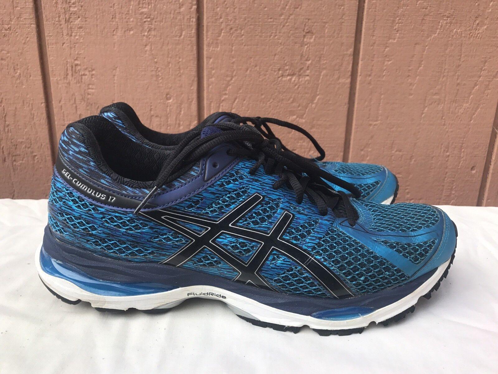 Asics Gel Cumulus 17 Island Blue/Black Men's US 9.5 Running Shoes T5D3N
