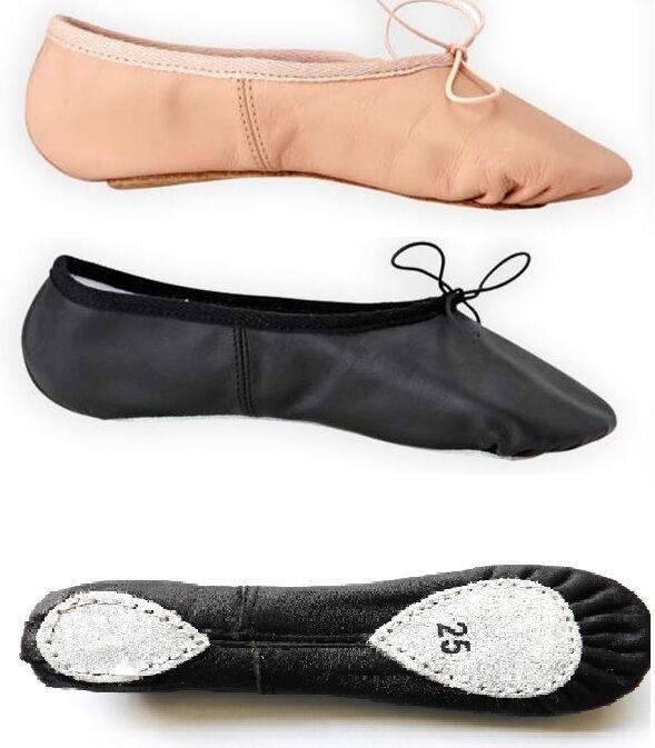 Ballet Dance Split Sole Leather Shoes Children's & Adult's Sizes