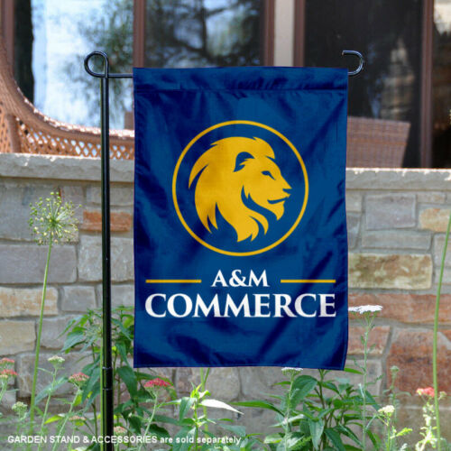 Texas A/&M Commerce Lions Garden Flag and Yard Banner
