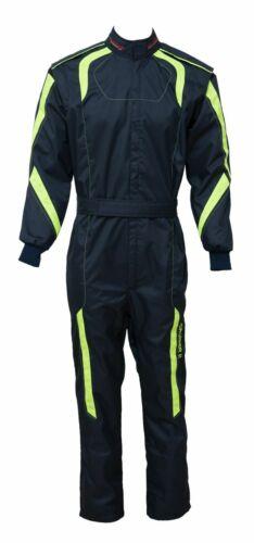 Größen 110-7XL,navy blue//lime Kartanzug Cordura Overall Kartoverall 2-lagig