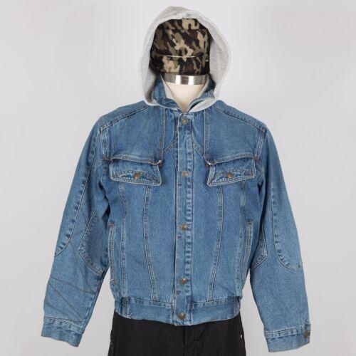 Vintage Mens Jacket Order Denim M Medium Trucker Hood Blue New sQhdtrC
