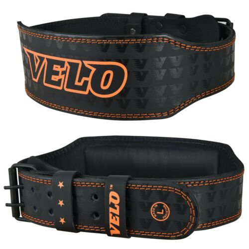Velo 10.2cm Weights Lifting Leather Belt Gym Back Support Belt Power Training x