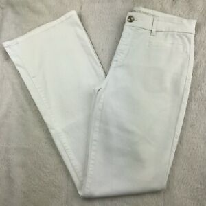 Chico-039-s-So-Slimming-Womens-Size-00-Girlfriend-Flare-Jeans-White-31-034-Inseam