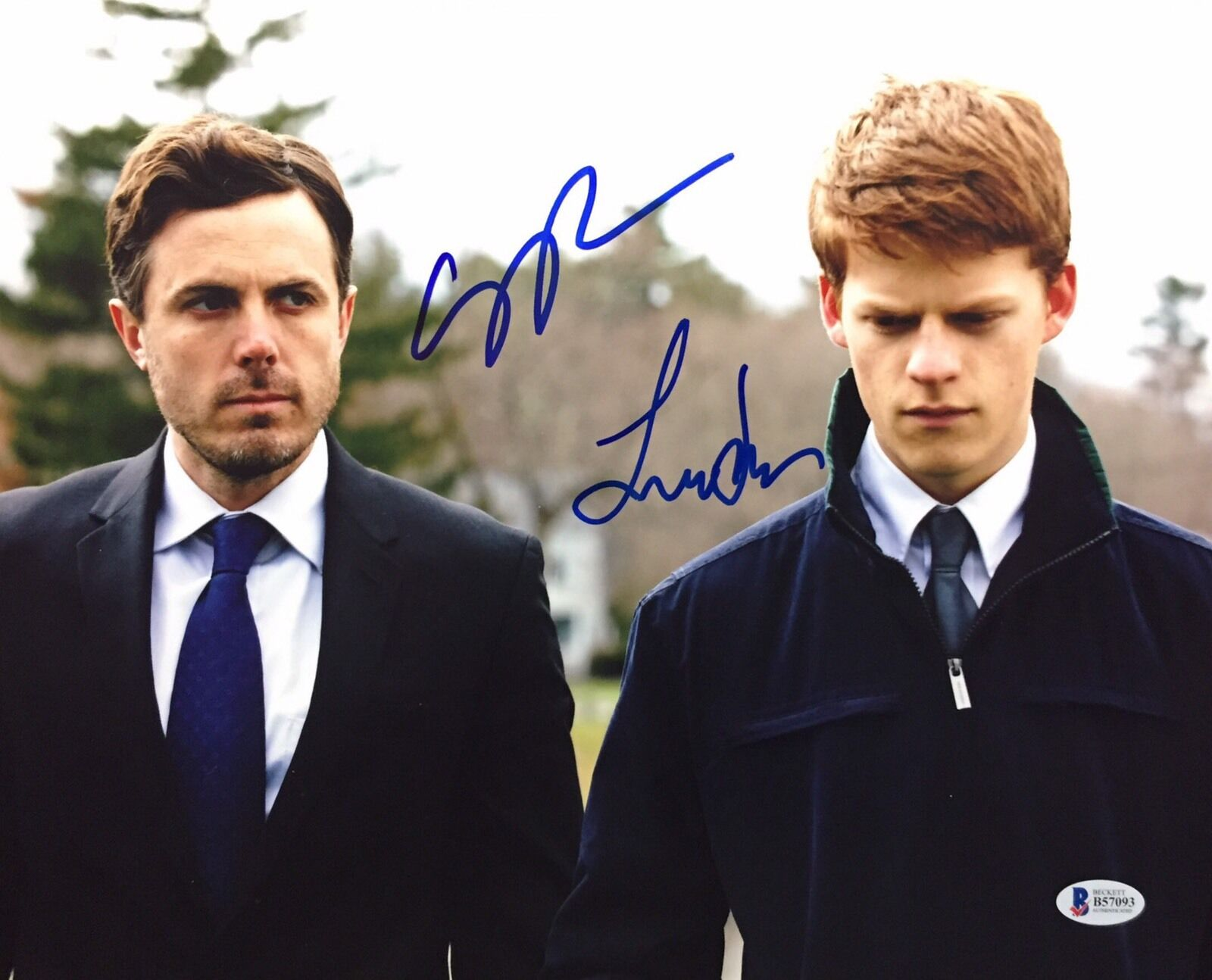Casey Affleck And Lucas Hedges Signed Manchester By The Sea 11x14 Photo Beckett