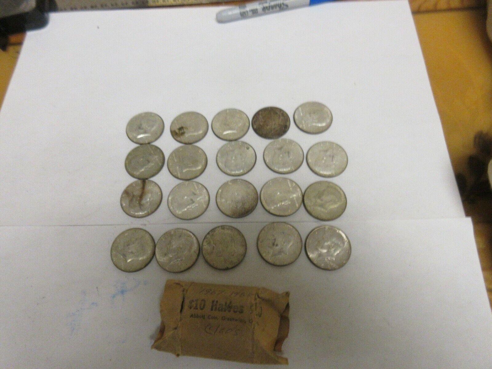 1967-1968-D Kennedy Half Dollar Roll , Mixed Roll 43359