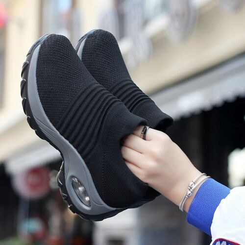 Women Fashion Coussin d/'Air Baskets Sport Outdoor Slip-On Chaussures De Course Décontractées