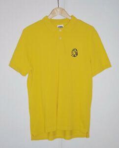 Billionaire-Boys-Club-BBC-Yellow-Polo-Shirt-sz-M-USED