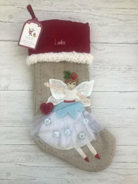 Nwt Pottery Barn Kids Christmas Stocking Woodland Fairy