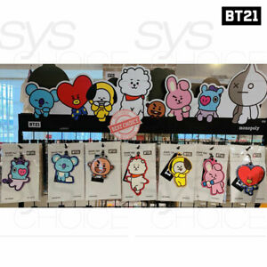 BTS-BT21-Official-Authentic-Goods-Name-Tag-Clear-120-390mm-Tracking-Number