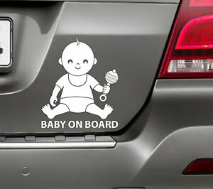BABY-ON-BOARD-Truck-Car-Van-SUV-Bumper-Window-Sticker-Funny-amp-Cute-Child-Safety