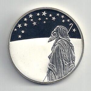 1999-ISRAEL-BIBLICAL-ART-Series-STARS-OVER-HOLY-LAND-ABRAHAM-PR-SILVER-COIN-COA