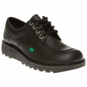 mens black leather school shoes