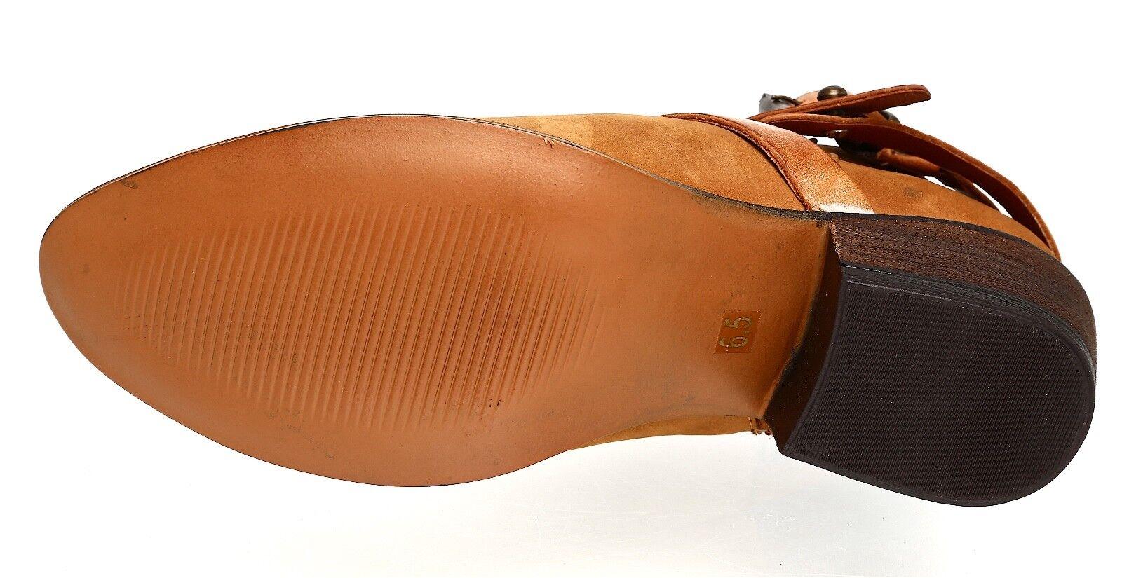 Steve Brown Madden Regennt Leather Bootie Brown Steve Donna Sz 6.5 M 4007 * 78200c