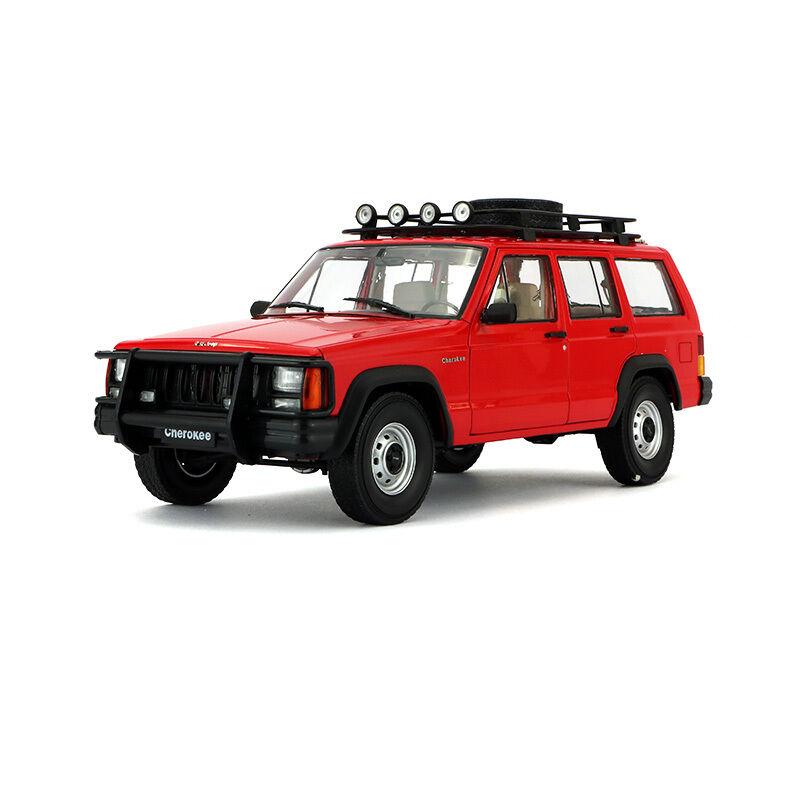 ORIGINAL MODEL 1 18 Beijing JEEP 2500,Cherokee 2500,SUV, with Lights,RED