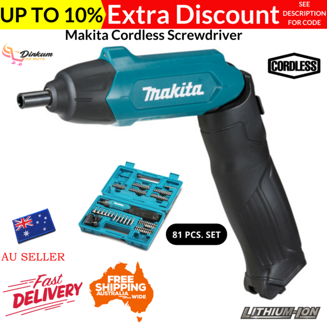 Makita Cordless Screwdriver 3.6V Mobile Pen 81 Pieces Accessory Set Charger New