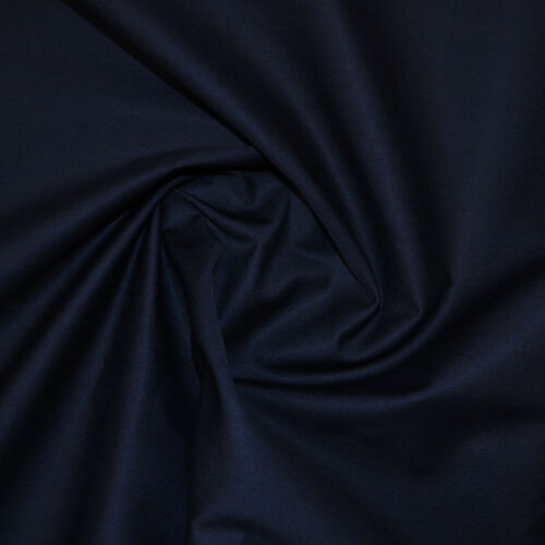 Marine foncé gabardine tissu