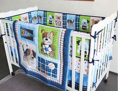 7 Piece Baby Boy Bedding Set Sports Balls Puppy Quilt ...
