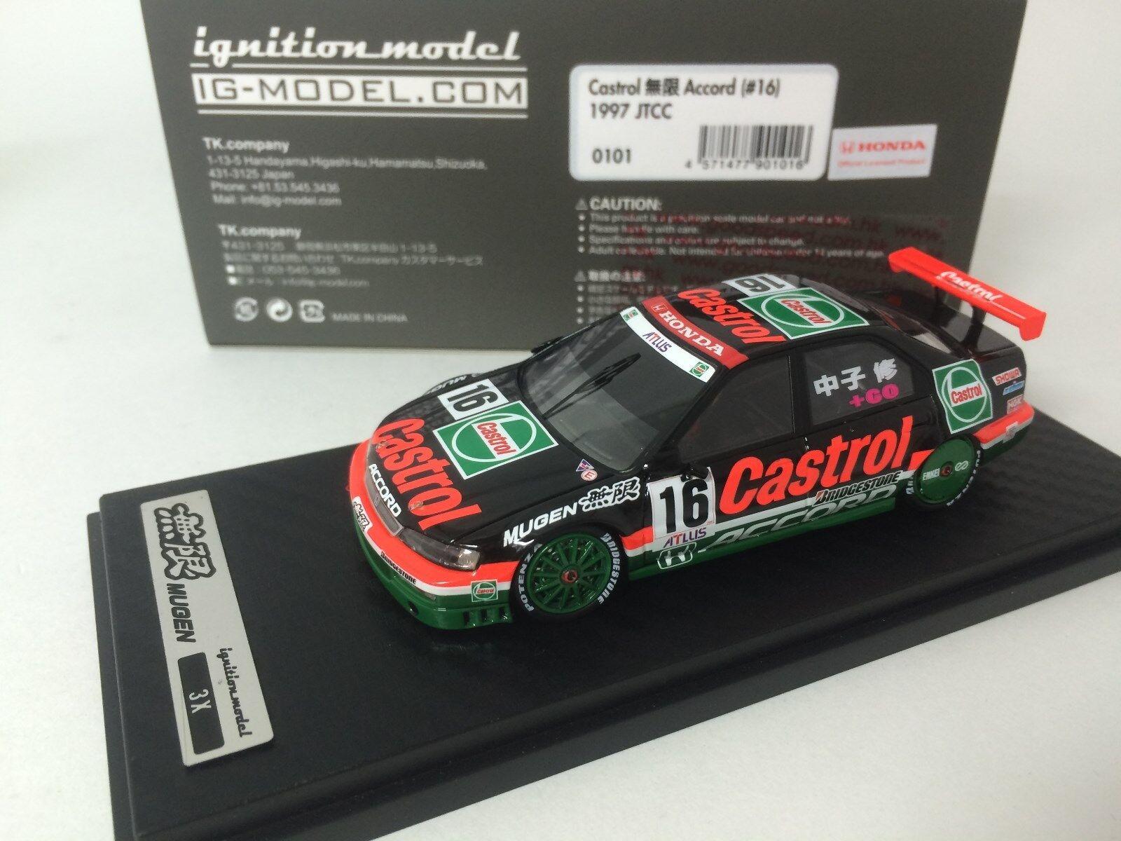 100% autentico 1 43 HPI IG modello Honda Honda Honda Castrol MUGEN Accord  16 1997 JTCC 0101  miglior prezzo migliore