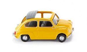 WIKING-009905-H0-1-87-FIAT-600-M-APERTO-tettuccio-apribile-Giallo-NUOVO