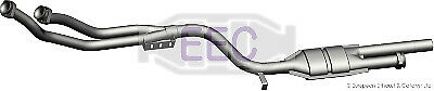 CAT OEM QUALITY FOR MERCEDES-BENZ MZ8006 CATALYTIC CONVERTER