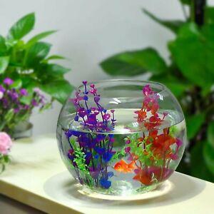 Hierba de agua artificial Falso Plástico Plantas Para Pecera Ornamento de acuario