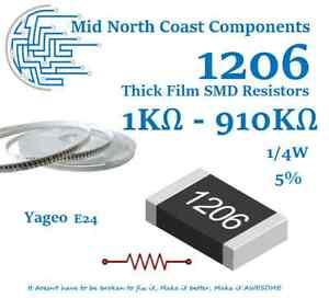 1206 3216 SMD chip Resistors  64 Value kit 1Ω~ 10MΩ 5/% 1280pcs
