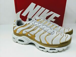 Nike Air Max Plus White Gold Women's 12 Men's 10.5 605112