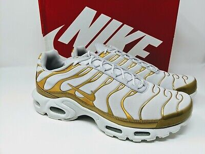 Nike Air Max Plus White Gold Women's 12 Men's 10.5 605112 054 | eBay