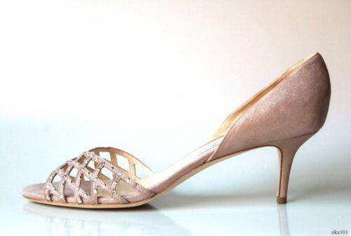 teen schoenen 13Geweldig 43 juwelen Jimmy Choo glinsterende open Nieuw675 Beigetaupe xBerWdCo