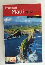 Maui Travel Guide Frommers 2012 Pull Out Map Hawaii Trip Tourist Book Full Color