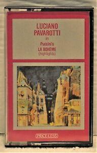"LUCIANO PAVAROTTI ""La Boheme - highlights) Audio Cassette  Price-Less XY2225"