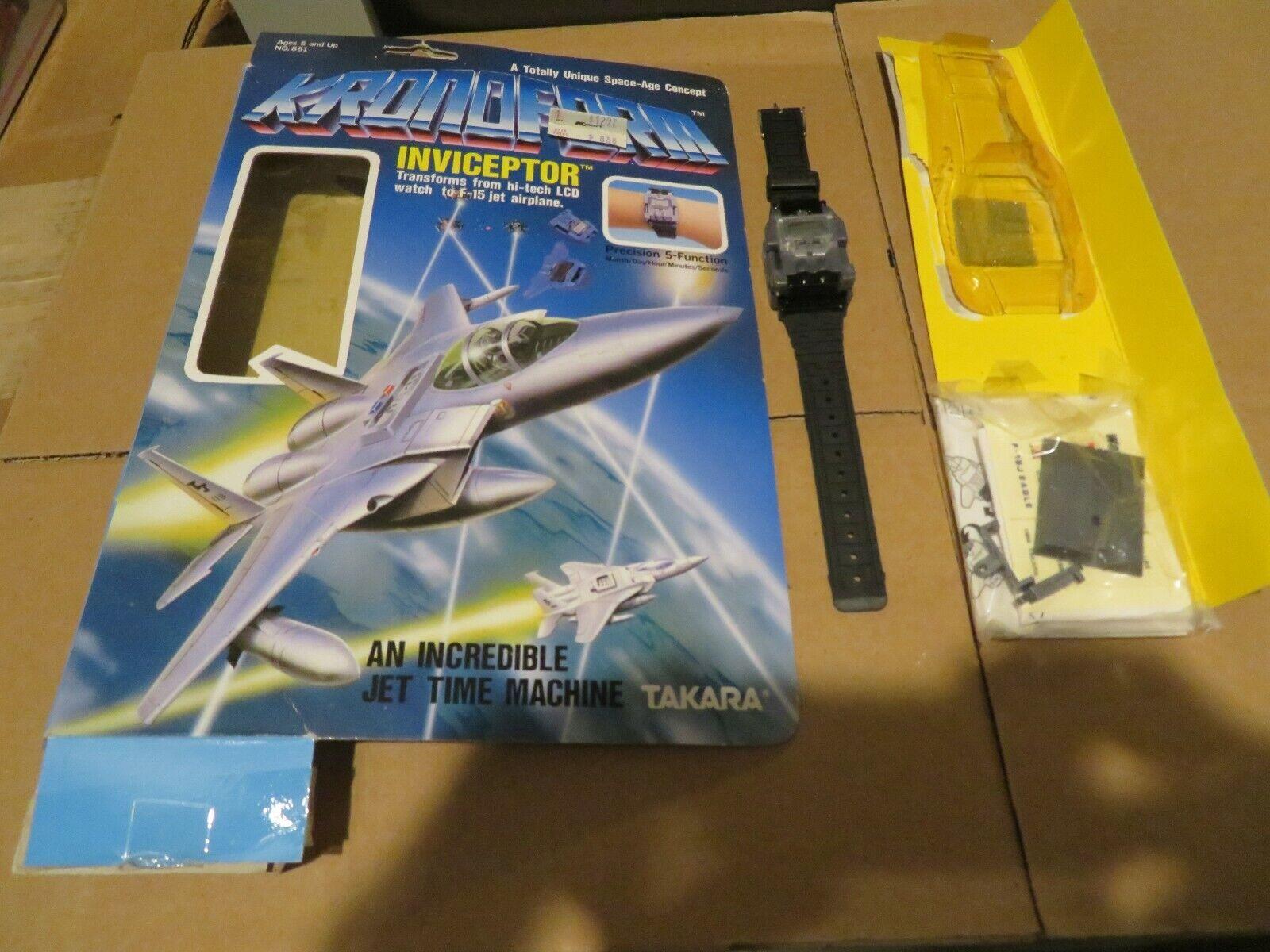 Retrospectivo Takara kronform, reloj, caja del avión F - 15.