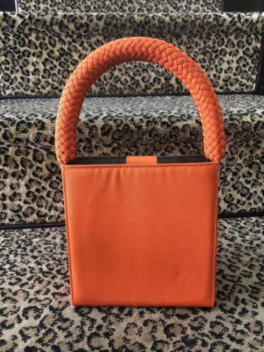 Giorgio Armani Rare Orange Silk Faille Boxy Mini H